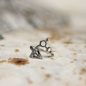 Harry Potter Deathly Hallows Ring - MANY COLORS